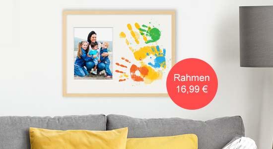 Muttertagsgeschenk Collagerahmen mit Handabdrücken von Kindern und Foto