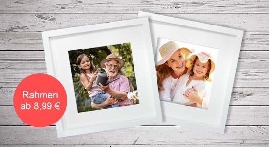 Ostergeschenke weiße Objektrahmen mit Fotos
