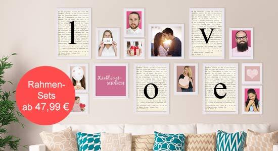 Valentinstag Geschenk Bilderrahmen-Set