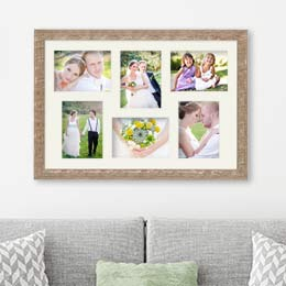 Fotorahmen Hochzeit mit mehreren Hochzeitsfotos