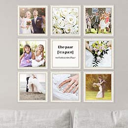 Fotorahmen für Hochzeitsfotos