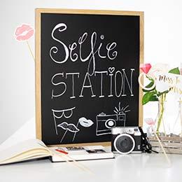 Hochzeitsdeko Magnettafel Selfie Station