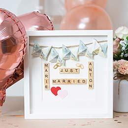 Hochzeitsgeschenk Geld im Bilderrahmen