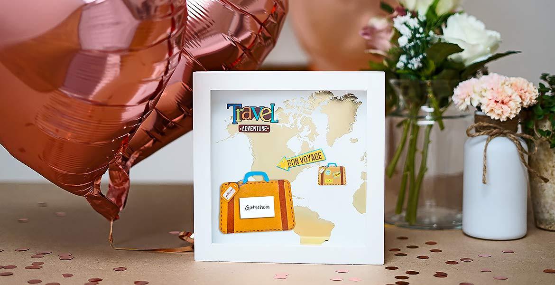 originelle Hochzeitsgeschenke Reisegutschein im Bilderrahmen
