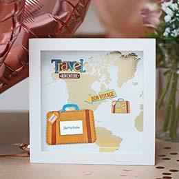 originelles Hochzeitsgeschenk Reisegutschein im Bilderrahmen
