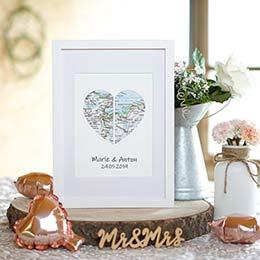 originelles Geschenk zur Hochzeit Weltkarte