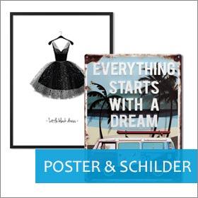 Poster und Blechschilder