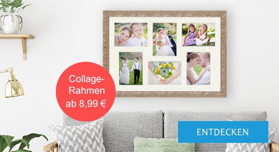 Bilderrahmen Collagerahmen mit Hochzeitsfotos