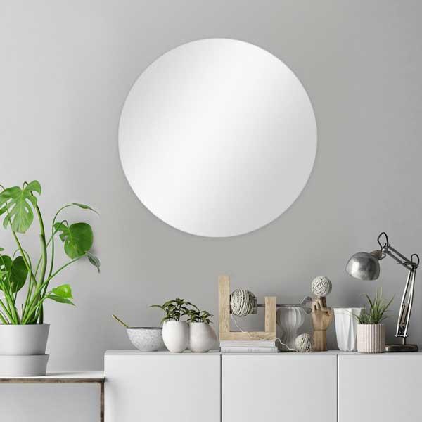 Spiegel rund ohne Rahmen