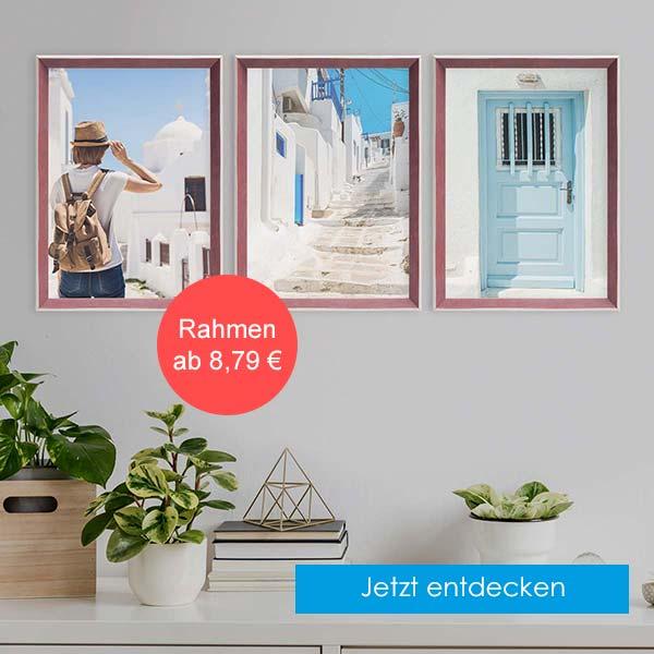 Bilderrahmen im Landhaus-Stil maritim in rot