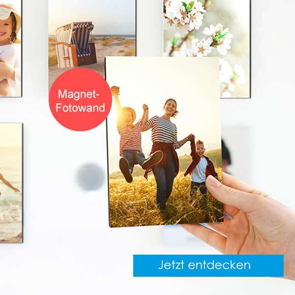 Magnet-Fotowand anbringen