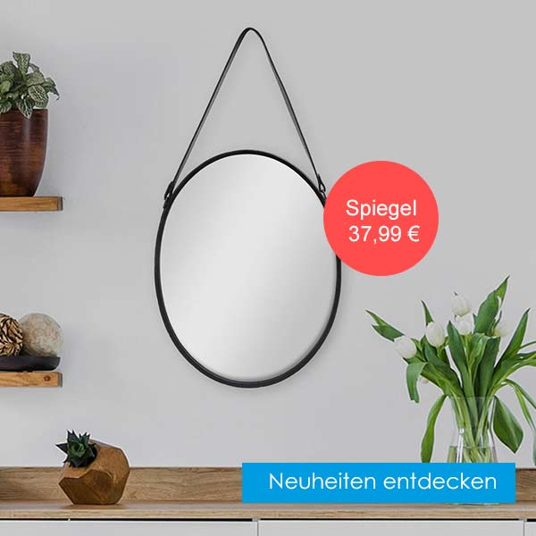 Neuheiten im Sortiment ovaler Spiegel