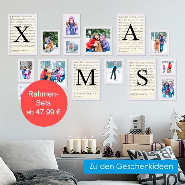 Weihnachtsgeschenkideen Bilderrahmen-Set weiß