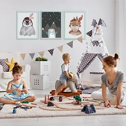 Kinderzimmer Bilderrahmen mit Postern
