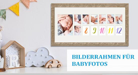 Babybilderrahmen für die ersten 12 Monate