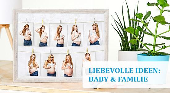 Babybauch Bilder Erinnerung im Bilderrahmen