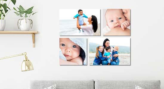 Familienfotos als Magent-Fotowand