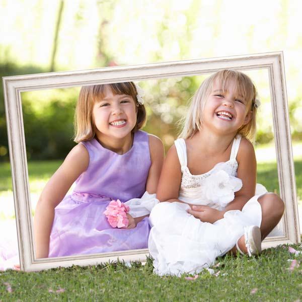 Bilderrahmen für Familienfotos Bildidee