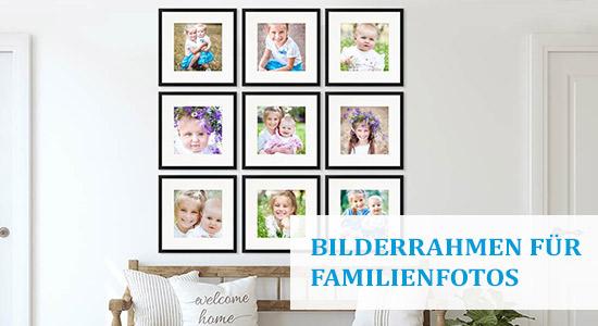 9er Bilderrahmen-Set für Familienfotos