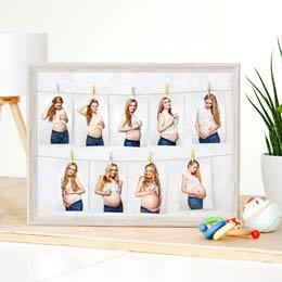 Schwangerschaftsbilder im Bilderrahmen 9 Monate