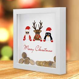 Bilderrahmen-Spardose für Weihnachten