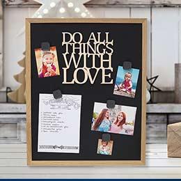DIY Weihnachtsgeschenk Magnettafel mit To Do Liste