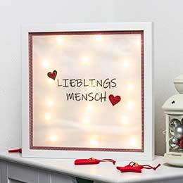 DIY Weihnachtsgeschenk Bilderrahmen Lieblingsmensch