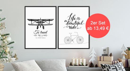 Weihnachtsgeschenkidee 3er Poster-Set