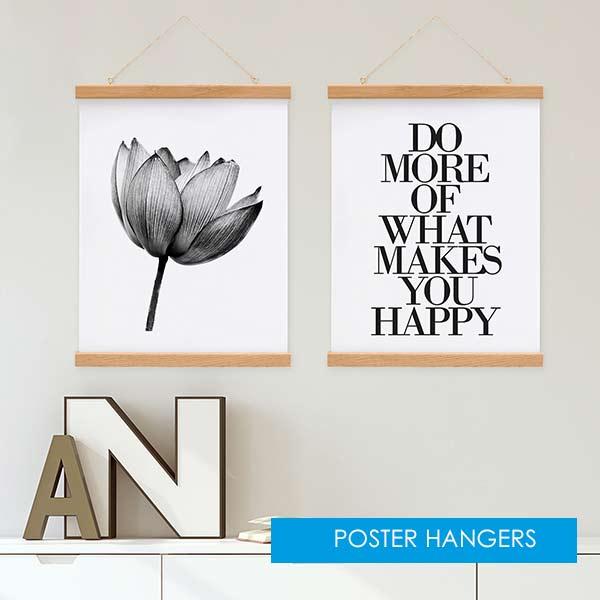 Poster hangers