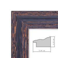 2er Set Vintage Bilderrahmen 13x18 cm Holz Dunkelbraun Shabby-Chic Massivholz mit Glasscheibe und Zubehör / Fotorahmen / Nostalgierahmen  – Bild 4