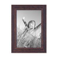 3er Set Vintage Bilderrahmen 20x30 cm Holz Dunkelbraun Shabby-Chic Massivholz mit Glasscheibe und Zubehör / Fotorahmen / Nostalgierahmen  – Bild 4