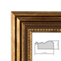 2er Set Bilderrahmen 15x15 cm Gold Barock Antik Massivholz mit Glasscheibe und Zubehör / Fotorahmen / Barock-Rahmen  – Bild 4