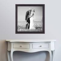 Bilderrahmen 60x60 cm Dunkelbraun Landhaus-Stil Breit Massivholz m. Acrylglas inkl. Zubehör / Fotorahmen / Shabby chic  – Bild 2