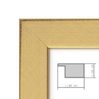 2er Set Bilderrahmen 20x20 cm Gold Modern Massivholz-Rahmen mit Glasscheibe inkl. Zubehör / Fotorahmen  – Bild 2