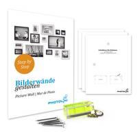 2er Set Bilderrahmen 20x20 cm Shabby-Chic Landhaus-Stil Dunkelbraun Massivholz mit Glasscheibe und Zubehör / Fotorahmen  – Bild 3