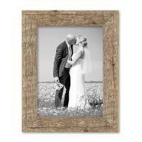 6er Bilderrahmen-Set 15x20 20x20 und 20x30 cm Strandhaus Rustikal Eiche-Optik Natur Massivholz mit Glasscheibe inkl. Zubehör / Fotorahmen  – Bild 7