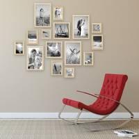 15er Set Bilderrahmen Modern Kiefer Natur Massivholz 10x15 bis 20x30 cm inklusive Zubehör zur Gestaltung einer Collage / Bildergalerie – Bild 4