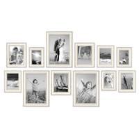 12er-Set Bilderrahmen Shabby-Chic Landhaus-Stil Weiss 10x15 bis 20x30 cm inklusive Zubehör / Fotorahmen  – Bild 3