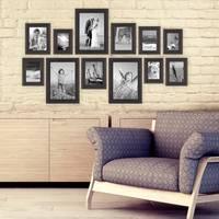 12er-Set Bilderrahmen Landhaus-Stil Shabby-Chic Dunkelbraun 10x15 bis 20x30 cm inklusive Zubehör / Fotorahmen  – Bild 4