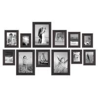 12er-Set Bilderrahmen Landhaus-Stil Shabby-Chic Dunkelbraun 10x15 bis 20x30 cm inklusive Zubehör / Fotorahmen  – Bild 3