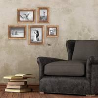 5er-Set Bilderrahmen Gold Barock Antik 10x10 10x15 13x18 und 15x20 cm inkl. Zubehör Fotorahmen / Barock-Rahmen  – Bild 2