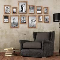 12er-Set Bilderrahmen Gold Barock Antik 10x15 13x18 15x20 und 20x30 cm inkl. Zubehör Fotorahmen / Barock-Rahmen  – Bild 2
