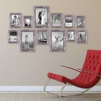 12er-Set Bilderrahmen Silber Barock Antik 10x15 13x18 15x20 und 20x30 cm inkl. Zubehör Fotorahmen / Barock-Rahmen  – Bild 2
