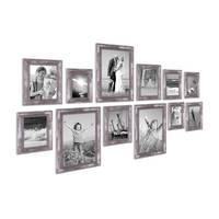 12er-Set Bilderrahmen Silber Barock Antik 10x15 13x18 15x20 und 20x30 cm inkl. Zubehör Fotorahmen / Barock-Rahmen