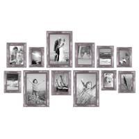 12er-Set Bilderrahmen Silber Barock Antik 10x15 13x18 15x20 und 20x30 cm inkl. Zubehör Fotorahmen / Barock-Rahmen  – Bild 5