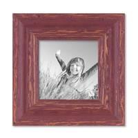 8er-Set Bilderrahmen Rot-Braun Shabby-Chic Vintage, je 2 mal 10x10, 10x15, 20x20 und 20x30 cm, inkl. Zubehör, Fotorahmen / Nostalgierahmen  – Bild 6