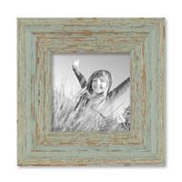 4er Set Vintage Bilderrahmen Grau-Grün Shabby-Chic je einmal 10x10, 10x15, 20x20 und 20x30 cm inkl. Zubehör Fotorahmen / Nostalgierahmen  – Bild 6