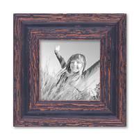 4er Set Vintage Bilderrahmen Dunkelbraun Shabby-Chic je einmal 10x10, 10x15, 20x20 und 20x30 cm inkl. Zubehör Fotorahmen / Nostalgierahmen  – Bild 6