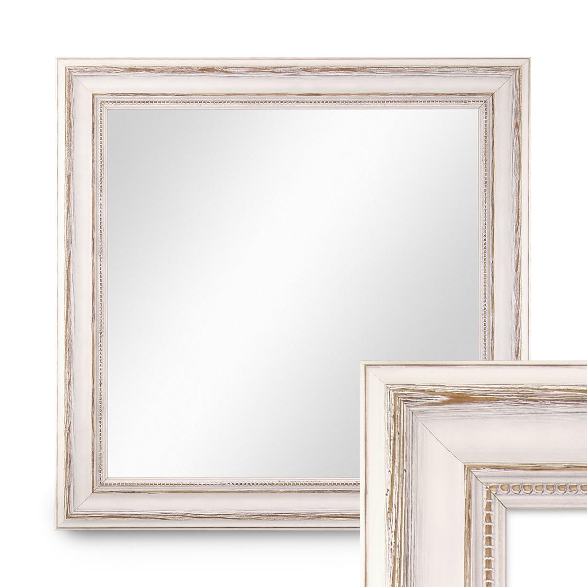 wand spiegel 60x60 cm im massivholz rahmen landhaus stil