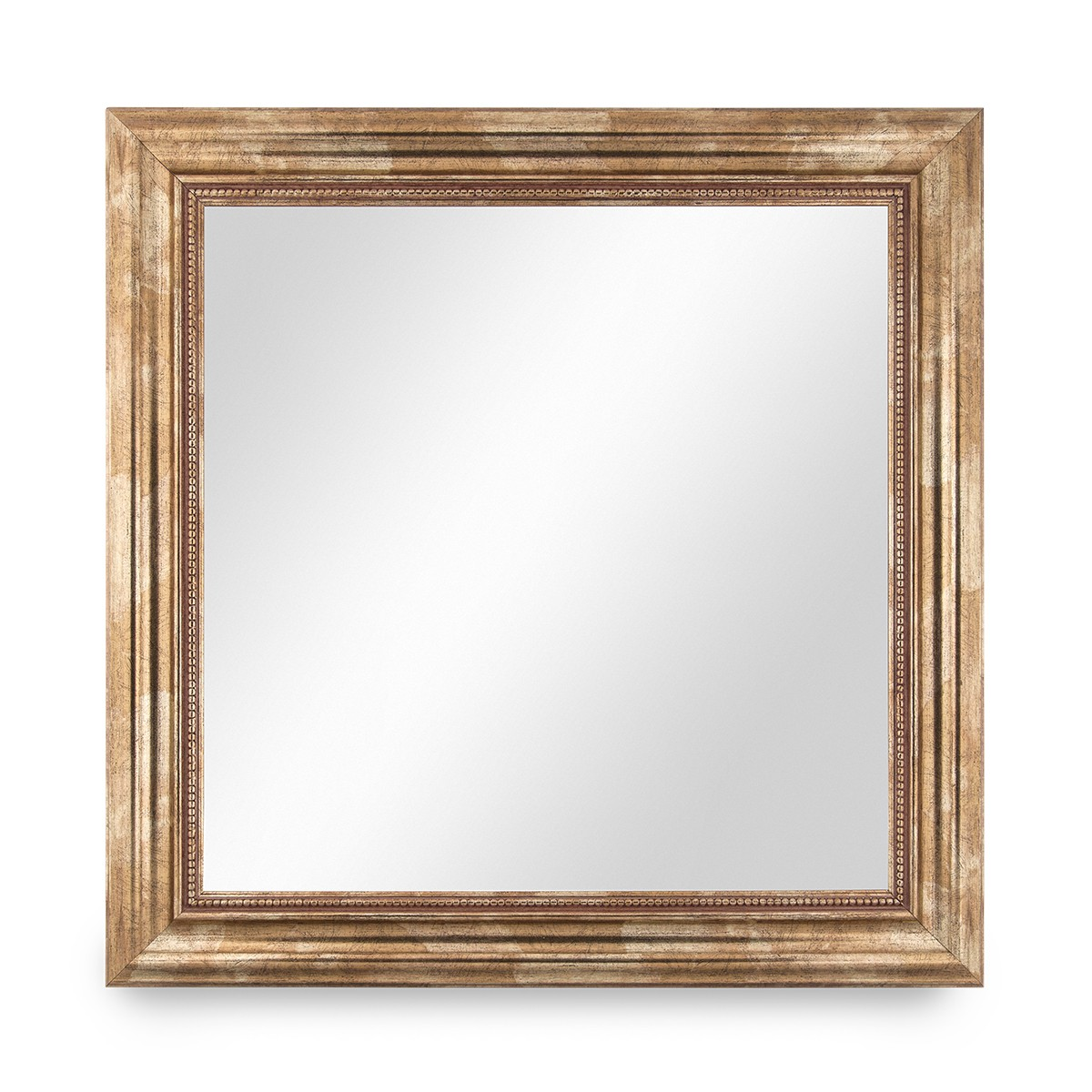 Wand-Spiegel 50x50 cm im Massivholz-Rahmen Barock-Stil Antik Gold ...